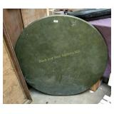 Round vinyl top card table