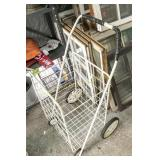 Wire fold-up push cart