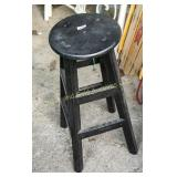 "30"" tall painted wooden stool"