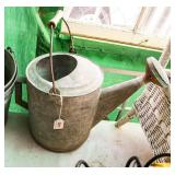 Vintage #10 galvanized watering can