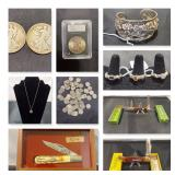 Project: Coins, Knives, Sterling Jewelry and more