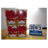 AMARYLLIS RED LION FLOWER BULB KIT (4X MONEY)