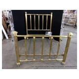 ANTIQUE BRASS 4-POST BED - 3/4 SIZE