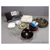 LOT: (9) ASSORTED POTTERY & GLASS DECORATIVE ASH
