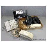 BOX: 4 ASSORTED CORDLESS & CORDED HOME PHONES