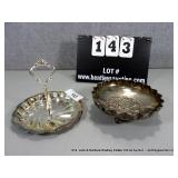 LOT: (2) SILVER PLATE CANDY BOWLS
