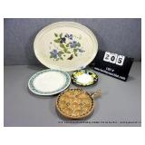 LOT: ASSORTED DECORATIVE PLATTERS & PLATES