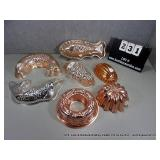 LOT: 7 ASSORTED DECORATIVE COPPER & TIN KITCHEN