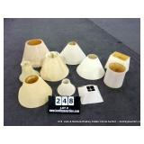 BOX: ASSORTED LAMP SHADES - MIXED SIZES - 10