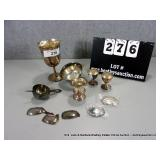 BOX: 8 ASSORTED SILVER PLATE ACCESSORIES - BOTTLE