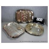 LOT: 3 ONEIDA & UNMARKED SILVER PLATE SERVING