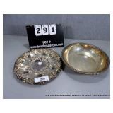 LOT: 2 GORHAM & UNMARKED SILVER PLATE SERVING