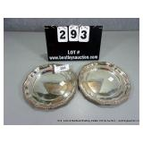 LOT: 2 ENGLAND SILVER PLATE SMALL SERVING PLATES