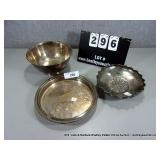 LOT: 3 ONEIDA & OTHERS SILVER PLATE SERVING