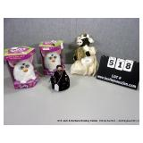 LOT: (2) WHITE FURBY ANIMALS, (1) COW, (1)
