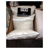 BOX: 3 WHITE BED PILLOWS