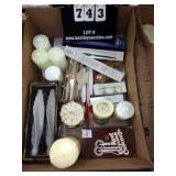 BOX: MULTI-SIZE WHITE DISPLAY CANDLES