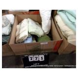 BOX: DIFFERENT COLORED PILLOW CASES