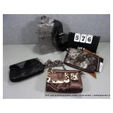 LOT: 4 ASSORTED LADIES FASHION HAND BAGS - LADIES