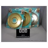 LOT: 3 GOLD PAINTED CEILING FIXTURE ACCENT