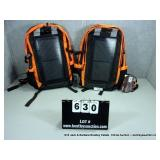 LOT: 2 ENTERPLEX SOLAR CHARGER BACKPACKS