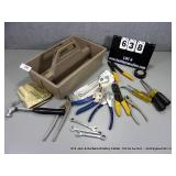 POLY TOTE OF ASSORTED HAND TOOLS
