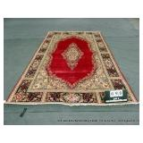 PERSIAN FLORAL RED, BLUE, LIGHT BLUE AREA RUG -