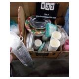 BOX: PLASTIC & PAPER - PLATES & CUPS