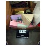 BOX: SCENTED DRAWER LININGS, STORAGE BOXES ,ETC.