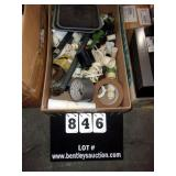 BOX: VARIOUS PVC JOINTS, WATER HOSE SPRINKLER