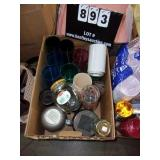 BOX: SOUP THERMOS, PLASTIC TUMBLER CUPS,