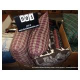 BOX: ASSORTED PATTERNED THROW PILLOWS