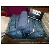 BOX: NAVY BLUE SHEETS, & MATCHING COMFORTER