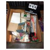 BOX: CHRISTMAS CANDLES, AND MISC. OTHER CANDLES (