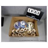 LOT: DISASSEMBLED PAINTED CERAMIC CHANDALEIR