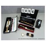 LOT: ASSORTED TIME PIECES - GOLD PLATED,