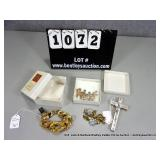 LOT: (1) CHAIN LINK GOLD PLATED & RHINESTONE