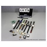 LOT: ASSORTED TIME PIECES, SPORT WATCHES, LEATHER