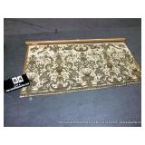 FRENCH SILK TAPESTRY HANGING WITH OAK FRAME, OVER