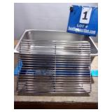 STAINLESS BIN W/ GRILL