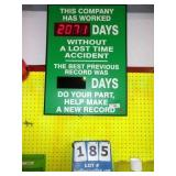 """DAYS W/OUT ACCIDENT"" SIGN"