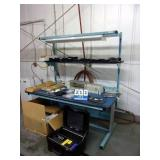 BLUE WORKBENCH W/ OVERHEAD LIGHT