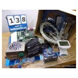 BOX: ASSORTED ELECTRONIC COMPONENTS