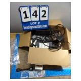 BOX: ASSORTED ELECTRONICS-POWER SUPPLIES, CORDS