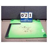 "12""X18"" PLASTIC CUTTING BOARD- GREEN"
