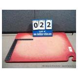 "12""X18"" PLASTIC CUTTING BOARD- RED"