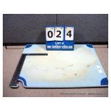"12""X18"" PLASTIC CUTTING BOARD- BLUE"