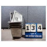 "7""X12""X6"" STAINLESS PANS W/ LIDS (4X MONEY)"