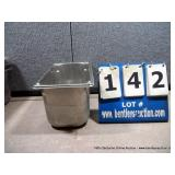 """7""""X12""""X6"""" STAINLESS PANS W/ LIDS"""