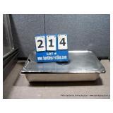 """12""""X8""""X4"""" STAINLESS BINS W/ LIDS (4X MONEY)"""